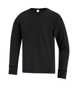 BLACK ATC EVERYDAY COTTON LONG SLEEVE YOUTH TEE. ATC1015Y