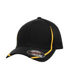 BLACK / GOLD ATC BY FLEXFIT® PERFORMANCE COLOUR BLOCK CAP. ATC16