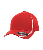 TRUE RED / WHITE ATC BY FLEXFIT® PERFORMANCE COLOUR BLOCK CAP. ATC16