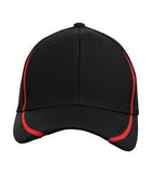 BLACK / TRUE RED ATC BY FLEXFIT® PERFORMANCE COLOUR BLOCK CAP. ATC16