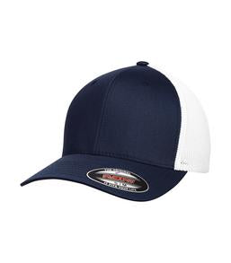 TRUE NAVY / WHITE ATC BY FLEXFIT® TRUCKER MESH. ATC6511