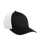 BLACK / WHITE ATC BY FLEXFIT® TRUCKER MESH. ATC6511