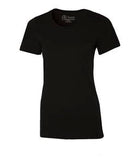 BLACK ATC EUROSPUN® RING SPUN LADIES' TEE. ATC8000L