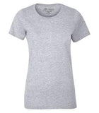 ATHLETIC GREY ATC EUROSPUN® RING SPUN LADIES' TEE. ATC8000L