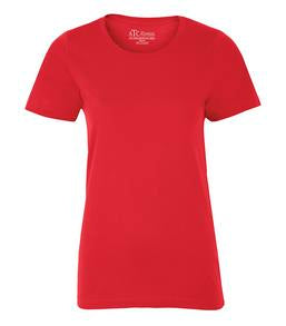 TRUE RED ATC EUROSPUN® RING SPUN LADIES' TEE. ATC8000L