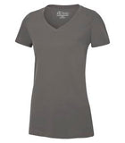 COAL GREY ATC EUROSPUN® RING SPUN V-NECK LADIES' TEE. ATC8001L