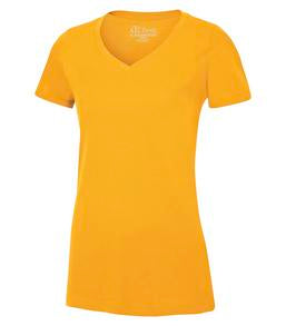 GOLD ATC EUROSPUN® RING SPUN V-NECK LADIES' TEE. ATC8001L