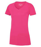 WILD RASPBERRY ATC EUROSPUN® RING SPUN V-NECK LADIES' TEE. ATC8001L