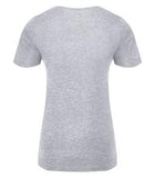 ATHLETIC GREY ATC EUROSPUN® RING SPUN V-NECK LADIES' TEE. ATC8001L