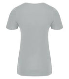 SILVER ATC EUROSPUN® RING SPUN V-NECK LADIES' TEE. ATC8001L