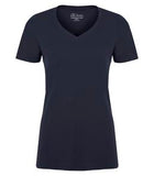 TRUE NAVY ATC EUROSPUN® RING SPUN V-NECK LADIES' TEE. ATC8001L