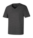 CHARCOAL HEATHER ATC EUROSPUN® RING SPUN V-NECK TEE. ATC8001