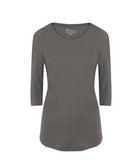COAL GREY ATC EUROSPUN® RING SPUN 3/4 SLEEVE LADIES' TEE. ATC8003L