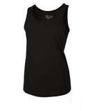 BLACK ATC EUROSPUN® RING SPUN LADIES' TANK. ATC8004L
