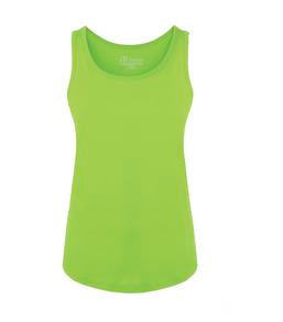 LIME SHOCK ATC EUROSPUN® RING SPUN LADIES' TANK. ATC8004L