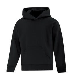 BLACK ATC EVERYDAY FLEECE HOODED YOUTH SWEATSHIRT. ATCY2500