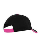 BLACK / WHITE / TROPICAL PINK ATC CONTRAST TIPPED VISOR CAP. C1304