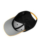 BLACK / WHITE / GOLD ATC CONTRAST TIPPED VISOR CAP. C1304