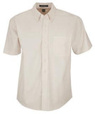 LIGHT STONE COAL HARBOUR® EASY CARE SHORT SLEEVE WOVEN SHIRT. D510