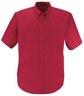 RED COAL HARBOUR® EASY CARE SHORT SLEEVE WOVEN SHIRT. D510