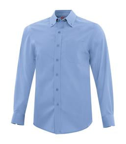 BLUE LAKE COAL HARBOUR® EVERYDAY LONG SLEEVE WOVEN SHIRT. D6013