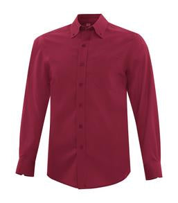 RICH RED COAL HARBOUR® EVERYDAY LONG SLEEVE WOVEN SHIRT. D6013