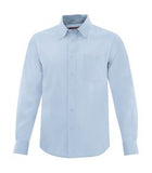 SKY BLUE COAL HARBOUR® NON-IRON TWILL SHIRT. D6017