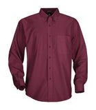 BURGUNDY COAL HARBOUR® EASY CARE LONG SLEEVE WOVEN SHIRT. D610