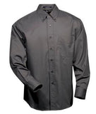 COAL GREY COAL HARBOUR® EASY CARE LONG SLEEVE WOVEN SHIRT. D610