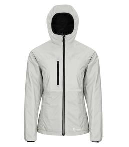 GLACIER GREY / BLACK DRYFRAME® DRY TECH REVERSIBLE LINER LADIES' JACKET. DF7651L
