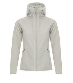 GLACIER HEATHER DRYFRAME®  DRY TECH FLEECE FULL ZIP HOODED LADIES' JACKET. DF7655L
