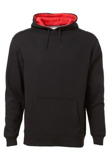 BLACK / RED ATC PRO FLEECE HOODED SWEATSHIRT. F200