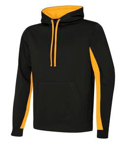 BLACK / GOLD ATC GAME DAY FLEECE COLOUR BLOCK HOODED SWEATSHIRT. F2011