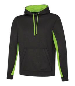 CHARCOAL / HEATHER LIME ATC GAME DAY FLEECE COLOUR BLOCK HOODED SWEATSHIRT. F2011