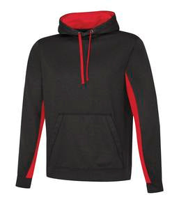 CHARCOAL / HEATHER TRUE RED ATC GAME DAY FLEECE COLOUR BLOCK HOODED SWEATSHIRT. F2011