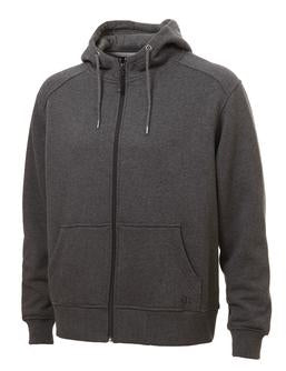 CHARCOAL GREY ATC PRO FLEECE FULL ZIP HOODED SWEATSHIRT. F201