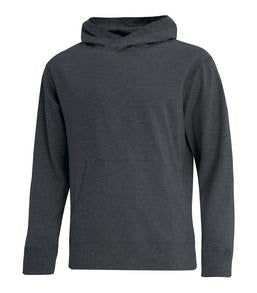 CHARCOAL HEATHER ATC ACADEMY PULLOVER HOODIE. F2020