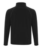 BLACK / WHITE ATC LIFESTYLE FLEECE FULL ZIP SWEATSHIRT. F2021