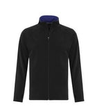 BLACK / TRUE ROYAL ATC LIFESTYLE FLEECE FULL ZIP SWEATSHIRT. F2021