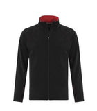 BLACK / TRUE RED ATC LIFESTYLE FLEECE FULL ZIP SWEATSHIRT. F2021