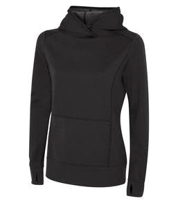 CHARCOAL HEATHER ATC GAME DAY FLEECE HOODED LADIES' SWEATSHIRT. L2005