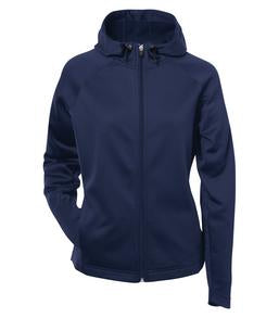 TRUE NAVY ATC PTECH® FLEECE HOODED LADIES' JACKET. L221