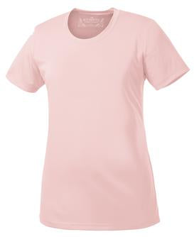 LIGHT PINK ATC PRO TEAM SHORT SLEEVE LADIES' TEE. L350
