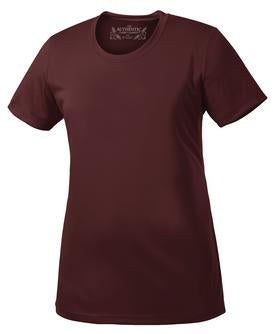 MAROON ATC PRO TEAM SHORT SLEEVE LADIES' TEE. L350