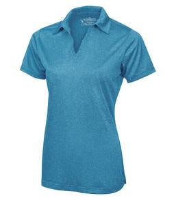 BLUE WAKE HEATHER ATC PRO TEAM HEATHER ProFORMANCE LADIES' SPORT SHIRT. L3518