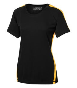 BLACK / GOLD ATC PRO TEAM HOME & AWAY LADIES' JERSEY. L3519