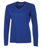 TRUE ROYAL ATC PRO TEAM LONG SLEEVE V-NECK LADIES' TEE. L3520LS