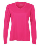 WILD RASPBERRY ATC PRO TEAM LONG SLEEVE V-NECK LADIES' TEE. L3520LS