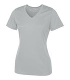 SILVER ATC PRO TEAM SHORT SLEEVE V-NECK LADIES' TEE. L3520