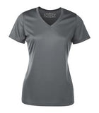 COAL GREY ATC PRO TEAM SHORT SLEEVE V-NECK LADIES' TEE. L3520